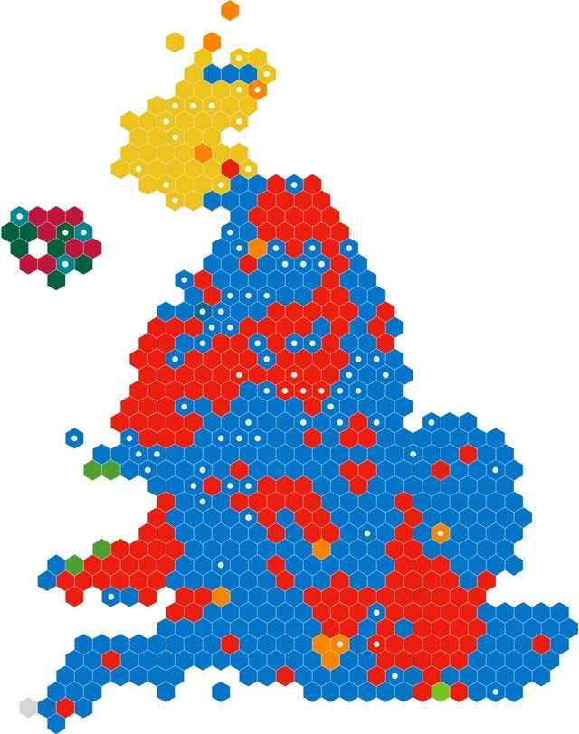 Electoral Map of 2019 UK Election